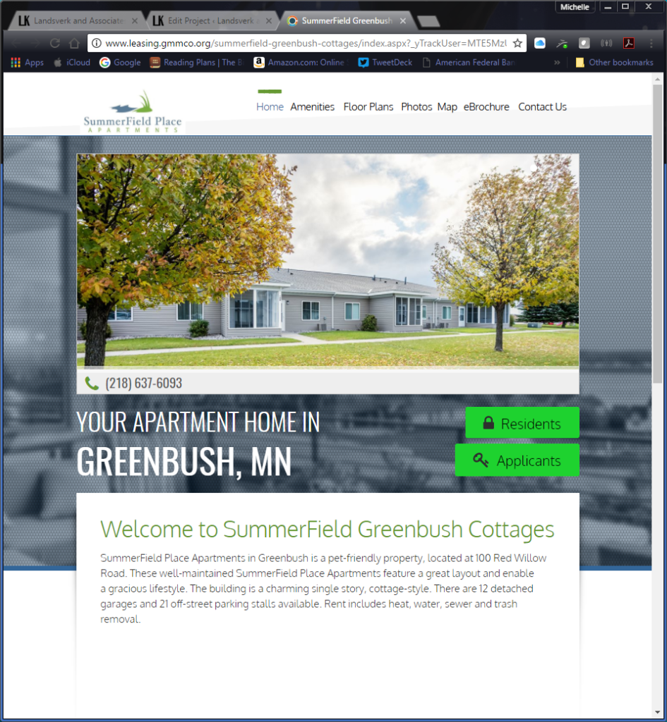 One of 24 property websites for Greater Minnesota Management