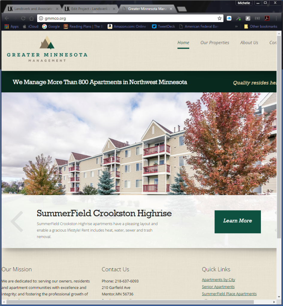 Greater Minnesota Management Corporate Website