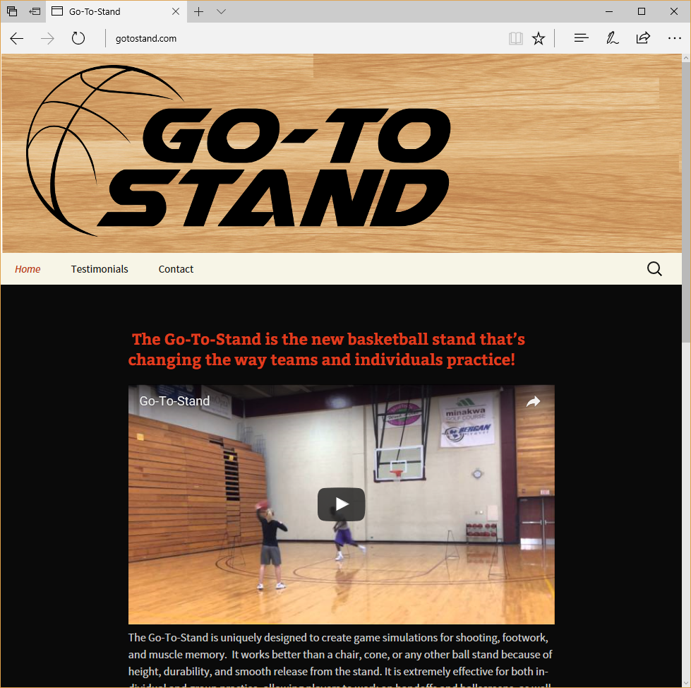 Go To Stand Website by Landsverk and Associates, Inc.