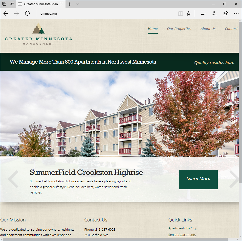 Greater Minnesota Management Website