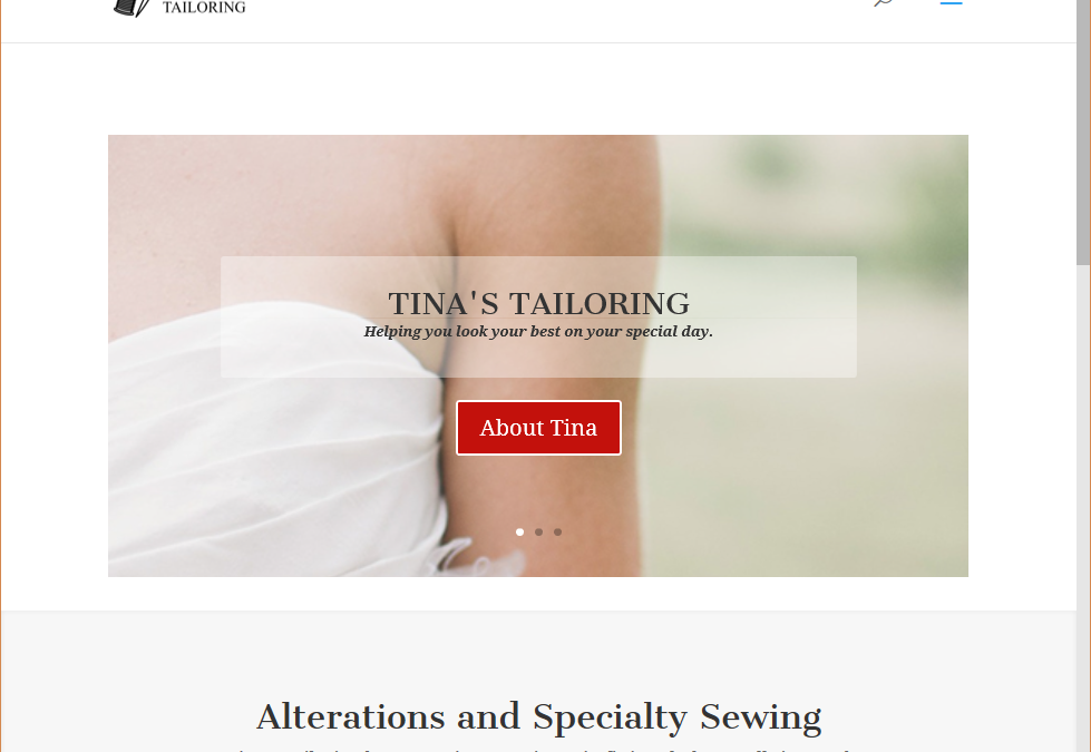 Tina's Tailoring Website
